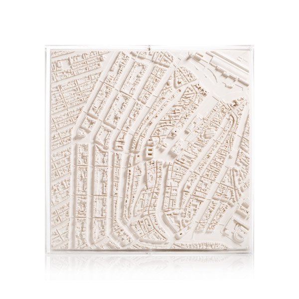 Amsterdam Cityscape Model. Product Shot Front View. Architectural Sculpture by Chisel & Mouse
