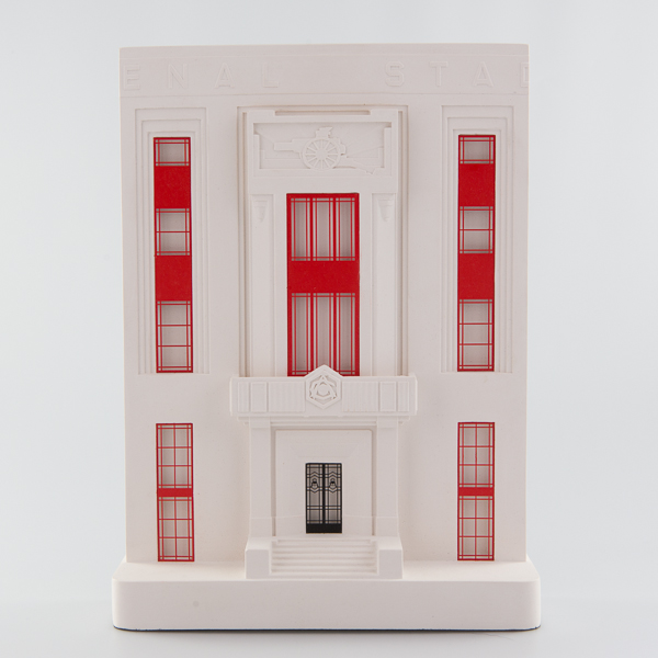 Arsenal Stadium Architectural Sculpture by Chisel & Mouse