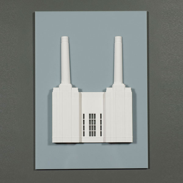 Battersea Power Station Perspex Model. Product Shot Front View. Architectural Sculpture by Chisel & Mouse