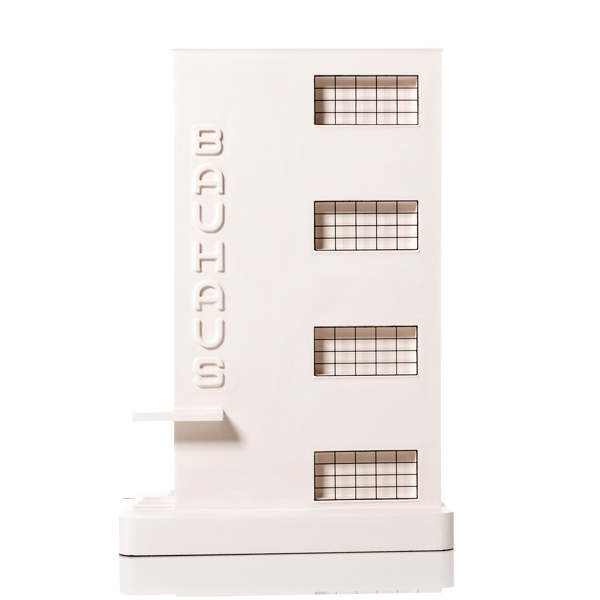 Bauhaus Dessau Model. Product Shot Front View. Architectural Sculpture by Chisel & Mouse