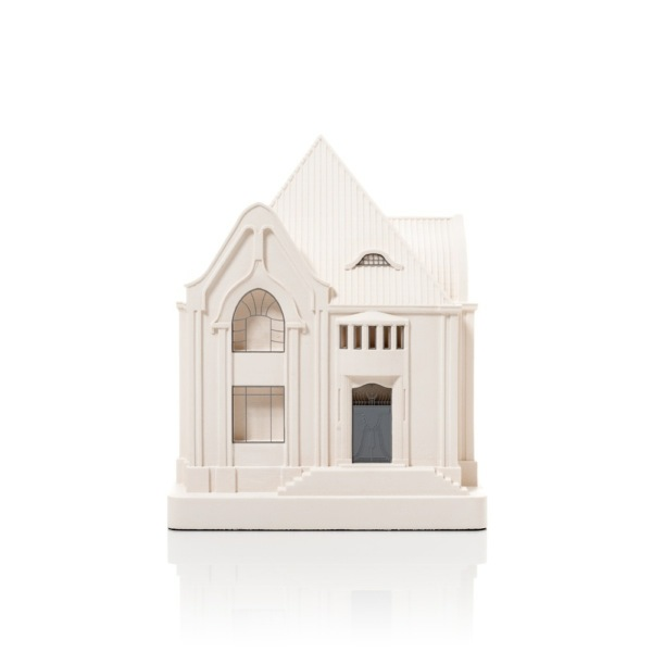 Behrens House Model. Product Shot Front View. Architectural Sculpture by Chisel & Mouse