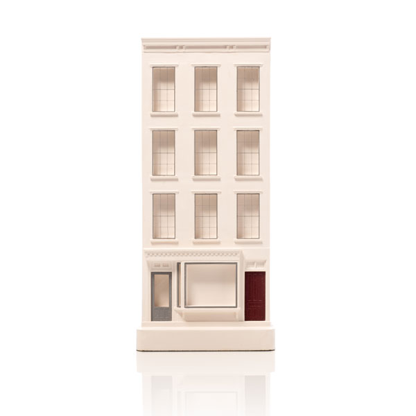 Bleecker Street Model. Product Shot Front View. Architectural Sculpture by Chisel & Mouse