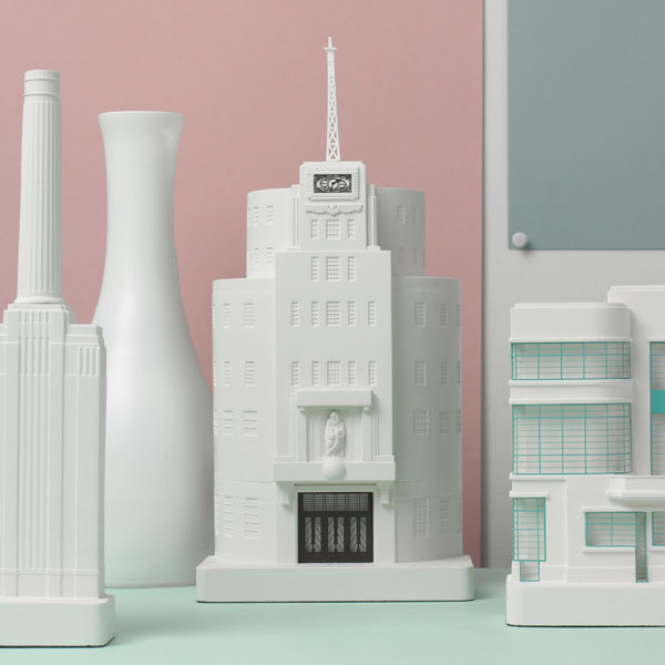 Broadcasting House Model. Lifestyle Shot. Architectural Sculpture by Chisel & Mouse