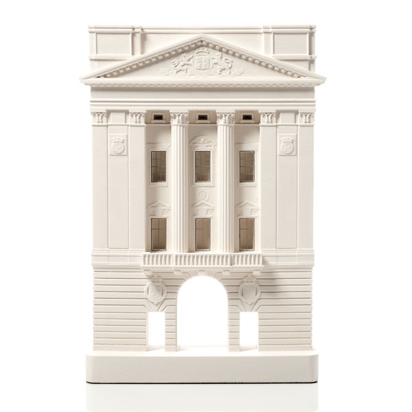 Buckingham Palace Model. Product Shot Front View. Architectural Sculpture by Chisel & Mouse