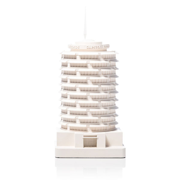 Capitol Records Model. Product Shot Front View. Architectural Sculpture by Chisel & Mouse