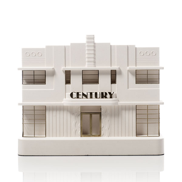 Century Hotel Model. Product Shot Front View. Architectural Sculpture by Chisel & Mouse