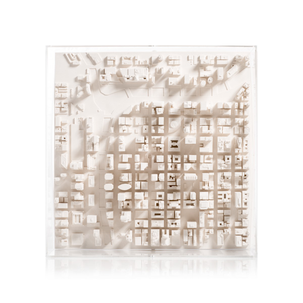 Chicago Cityscape Framed 5000 Model. Product Shot Front View. Architectural Sculpture by Chisel & Mouse
