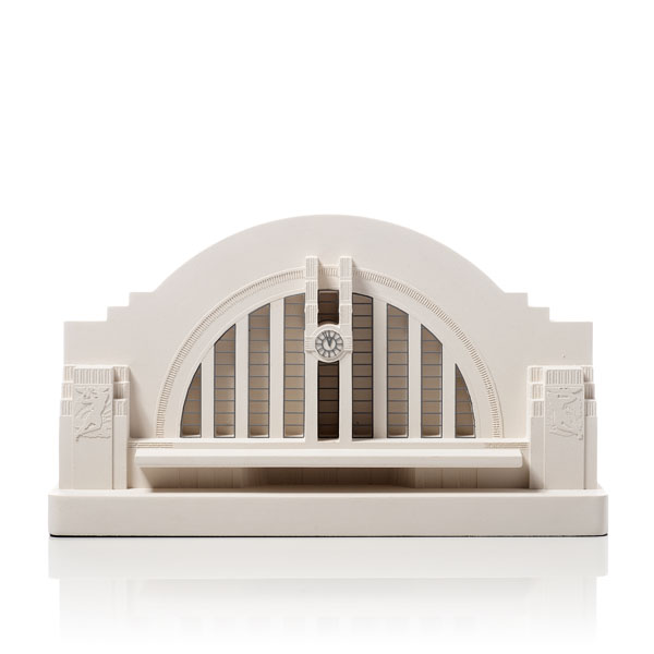 Cincinnati Union Terminal Model. Product Shot Front View. Architectural Sculpture by Chisel & Mouse