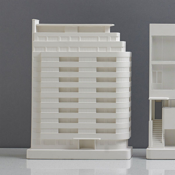 Embassy Court Model. Lifestyle Shot. Architectural Sculpture by Chisel & Mouse