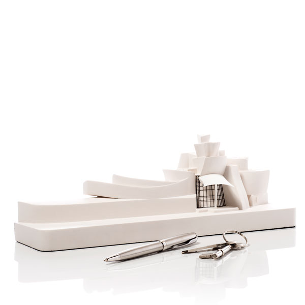 Guggenheim Museum Mini Model. Product Shot Side View. Architectural Sculpture by Chisel & Mouse