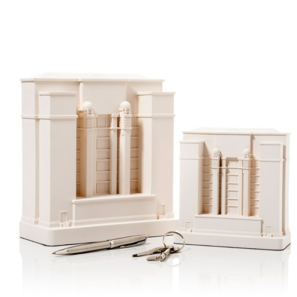Larkin Building Model. Product Shot Side View. Architectural Sculpture by Chisel & Mouse