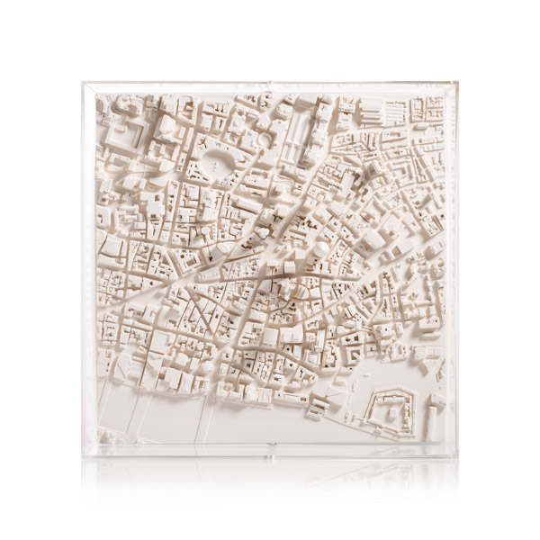 London Cityscape 1:5000. Product Shot Front View. Architectural Sculpture by Chisel & Mouse
