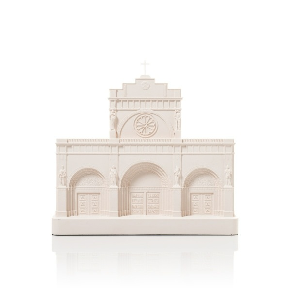 Manila Cathedral Model. Product Shot Front View. Architectural Sculpture by Chisel & Mouse