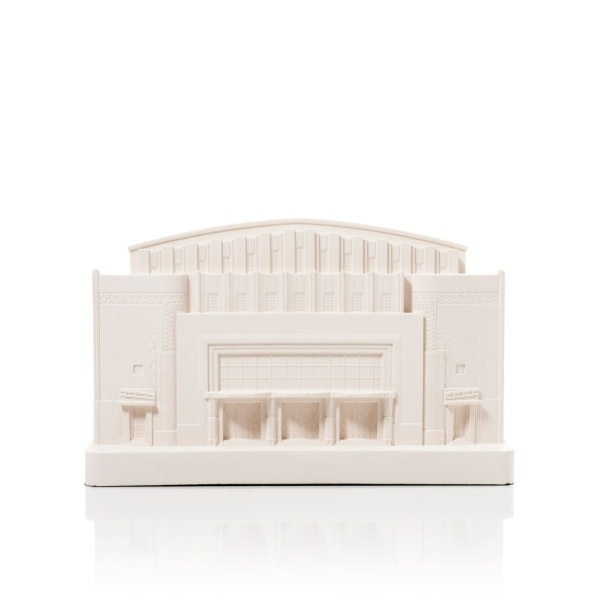 Manila Metropolitan Theatre Model. Product Shot Front View. Architectural Sculpture by Chisel & Mouse
