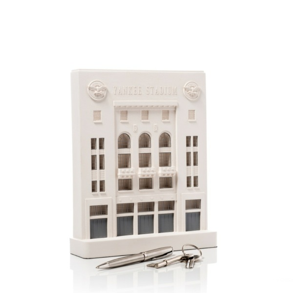 New York Yankees Old Stadium Model. Product Shot Side View. Architectural Sculpture by Chisel & Mouse