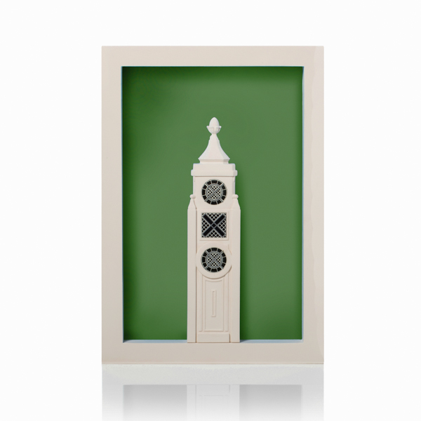 oxo tower poparc Model. Product Shot Front View. Architectural Sculpture by Chisel & Mouse
