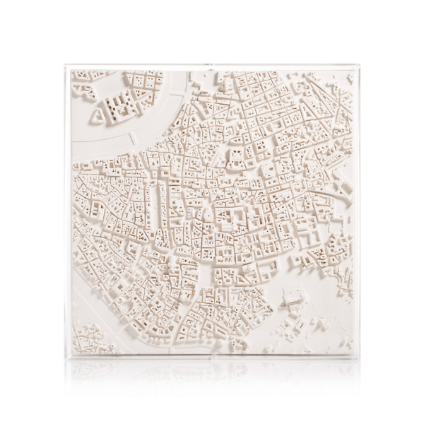 Rome Cityscape Framed 5000 Model. Product Shot Front View. Architectural Sculpture by Chisel & Mouse