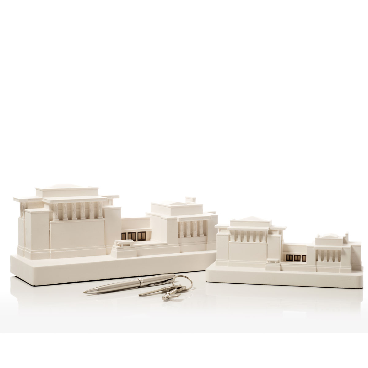 Unity Temple Model. Product Shot Side View. Architectural Sculpture by Chisel & Mouse