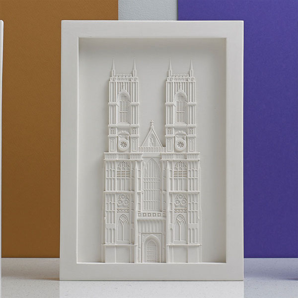 Westminster Abbey Model. Lifestyle Shot. Architectural Sculpture by Chisel & Mouse