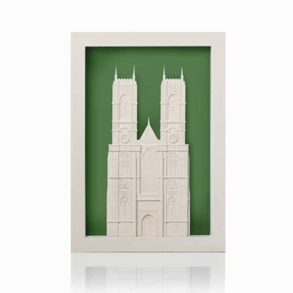 westminster abbey poparc Model. Product Shot Front View. Architectural Sculpture by Chisel & Mouse
