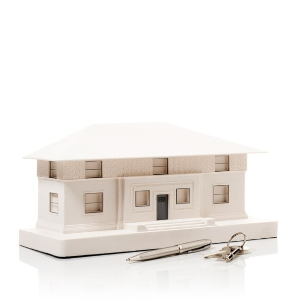 Winslow House Model. Product Shot Side View. Architectural Sculpture by Chisel & Mouse