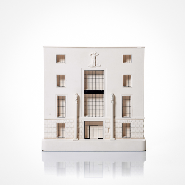 66 Portland Place Model. Product Shot Front View. Architectural Sculpture by Chisel & Mouse