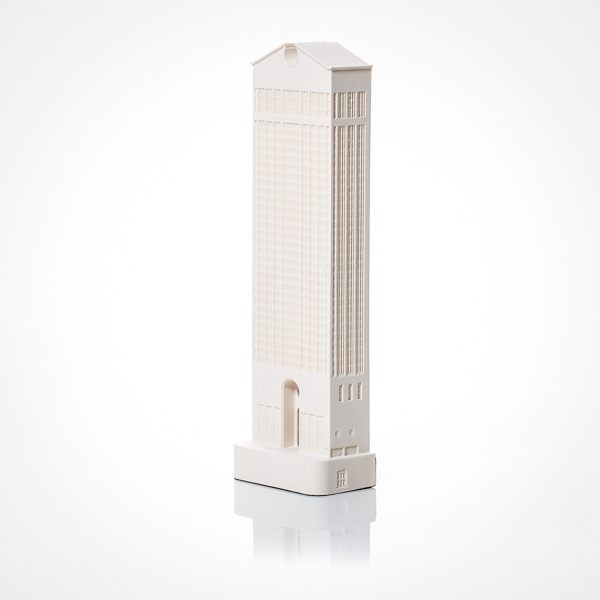 AT and T Building Model. Product Shot Front View. Architectural Sculpture by Chisel & Mouse