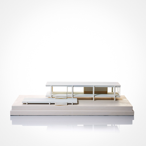 farnsworth house Model. Product Shot Front View. Architectural Sculpture by Chisel & Mouse