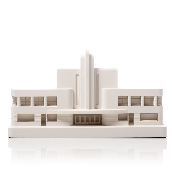 Greyhound Terminal Model. Product Shot Front View. Architectural Sculpture by Chisel & Mouse