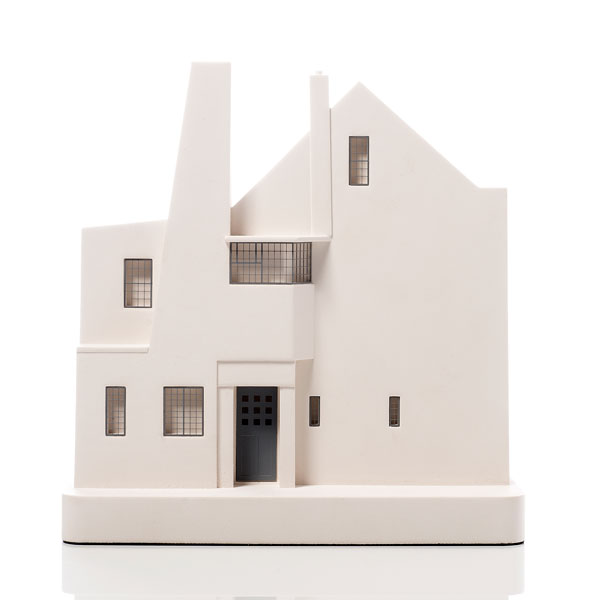 Hill House Model. Product Shot Front View. Architectural Sculpture by Chisel & Mouse