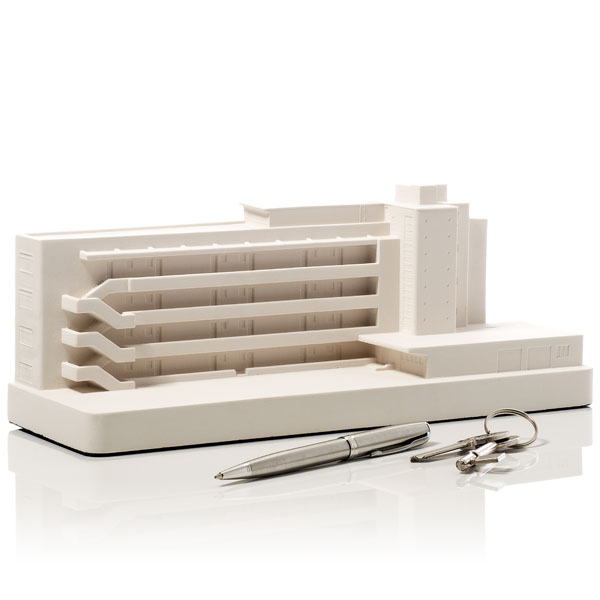 Isokon Building Model. Product Shot Front View. Architectural Sculpture by Chisel & Mouse