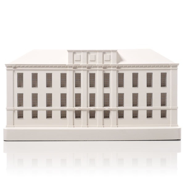 Kensington Palace Model. Product Shot Front View. Architectural Sculpture by Chisel & Mouse