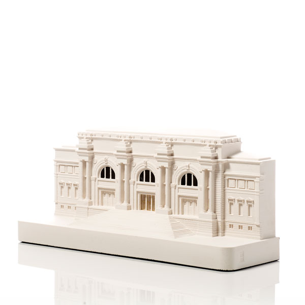 Metropolitan Museum Model. Product Shot Front View. Architectural Sculpture by Chisel & Mouse