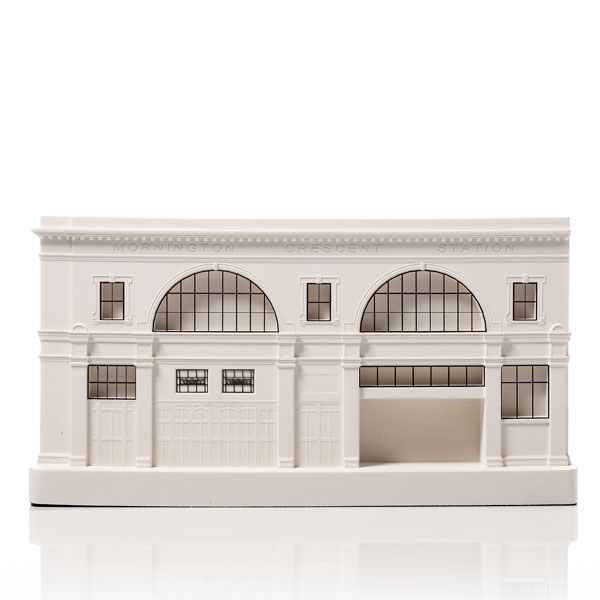 Mornington Crescent Station Model. Product Shot Front View. Architectural Sculpture by Chisel & Mouse