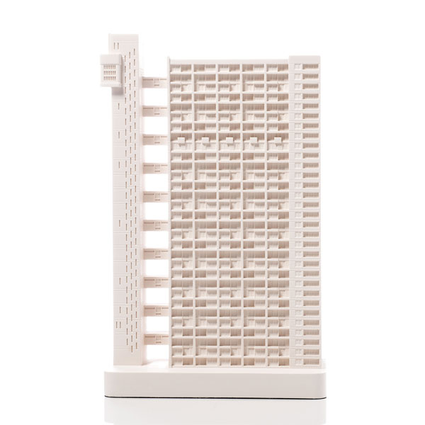 Trellick Tower Model. Product Shot Front View. Architectural Sculpture by Chisel & Mouse